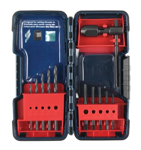 Bosch B44710 11 Piece Tap and Drill Set, Black Oxide (Drill Bit And Tap compare prices)