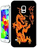 The Hallowmas Gift With Beautiful Fire Flowers Horses Dragon Nice Fashion Cell Phone Cases Design Special For Samsung Galaxy S5 i9600 No.11