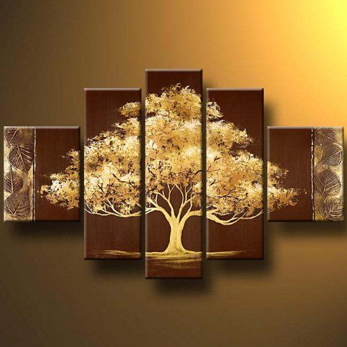 Wieco Art Large Size Modern 100 Hand Painted Canvas Painting Art Work For Wall Decor Home