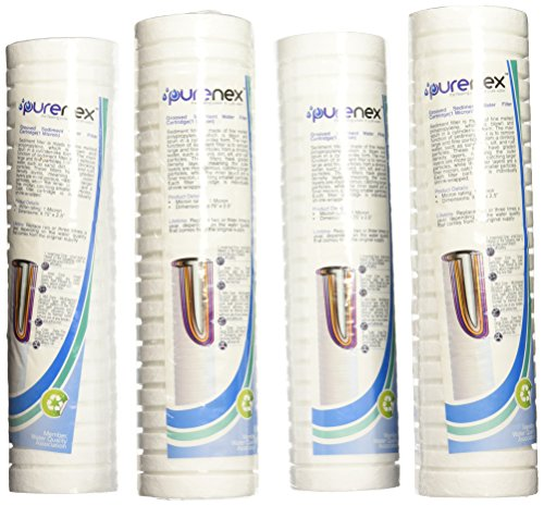 Purenex SG-1M 1 Micron Sediment Water Filter Grooved Cartridge, 4-Pack (1 Micron Water Filter System compare prices)