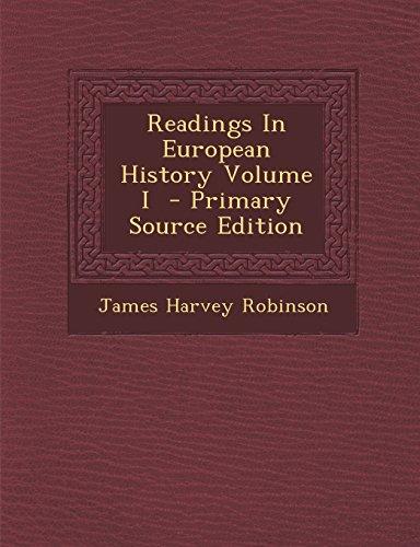 Readings In European History Volume I