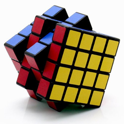 GoodPlay Shengshou 4x4x4 Version 5 Black Puzzle Speed Cube 4x4 Twisty Smooth New V5(+One customezd tripod)