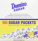 DOMINO SUGAR PACKETS - 100/ 3.54g Packs