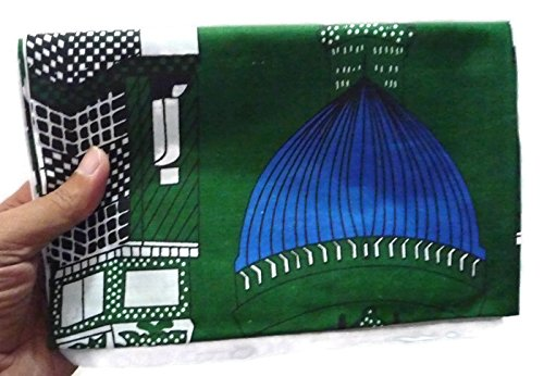 Muslim Portable Prayer Rug Islamic Thin Cloth Sajadah Camping Backpack Travel Office Namaz Sajjadah - Green