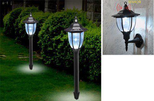 2 In 1 Solar Powered Led Security Light With Pir Motion Sensor (1014) Welcome Visitors, Deter Intruders.