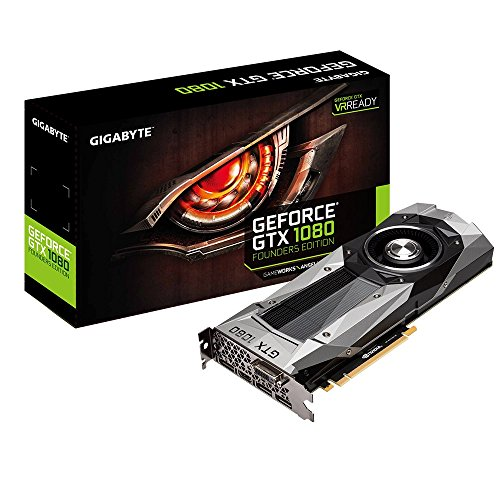 "Gigabyte Nvidia GeForce GTX 1080 ""Founders Edition"" 8GB GDDR5X VR-Ready/Pascal Architecture 256-bit PCI-Express Graphics Card"