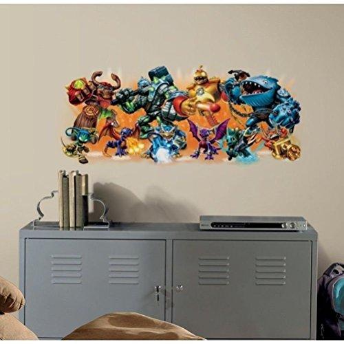 "Defonia Skylanders Burst Giants 40"" Wall Decals Game Characters Room Decor Stickers"