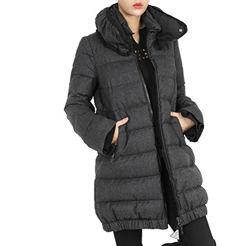 Moncler Madine Womens Funnel Neck Zip-Up Padded Coat<br />