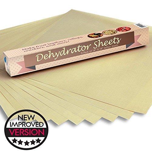 Food Dehydrator Sheets, Set of 9 Premium 14