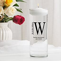 Personalized Floating Wedding Unity Candle- Whitley