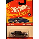 67 Camaro Hot Wheels Classics Series #1 Spectraflame Paint 1:64 Scale Collectible Die Cast Metal Toy Car Model...