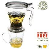 Express Tea Maker / Infuser with Glass Cup Set - 16oz / 500ml
