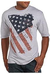 Big Distress Flag Big & Tall Short Sleeve Graphic T-Shirt