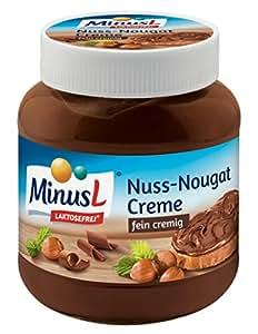 Minus L - Nuss-Nougat-Creme Laktosefrei - 400 g