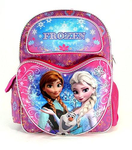 "DisneyDisney Frozen Snowflake 16"" Large Backpack - KBNL"