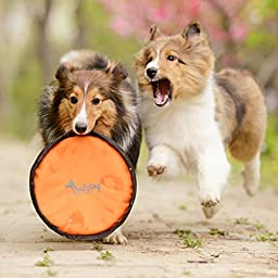 Menpet Puppy Flyer Guaranteed Tough Flying Disc Dog Play Toy