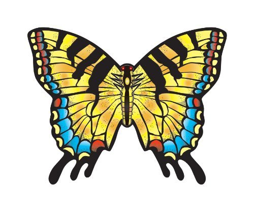 "WindNSun Microkite Mini Mylar Butterfly 4.7"" Swallowtail Kite - 1"