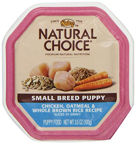 Natural Choice Dog Small Breed Puppy Chicken, Oatmeal And Whole Brown Rice Recipe Slices In Gravy Puppy Food Flex Tray, 3-1/2-Ounce, 24 Pack Case