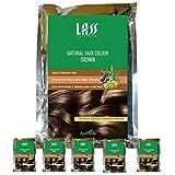 Pack Of 6 Lass Naturals BROWN HENNA POWDER
