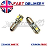 2x CITROEN C4 Grand Picasso H6W BAX9S Front Sidelight 5 LED Bulbs Xenon White