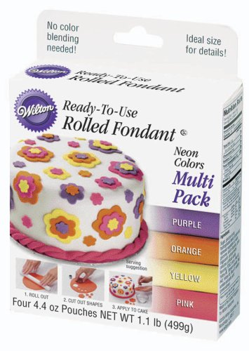 Wilton Neon Colors Fondant,  Multi Pack at Amazon.com