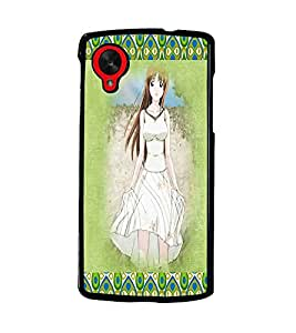PrintDhaba Cute Girl D-4586 Back Case Cover for LG GOOGLE NEXUS 5 (Multi-Coloured)