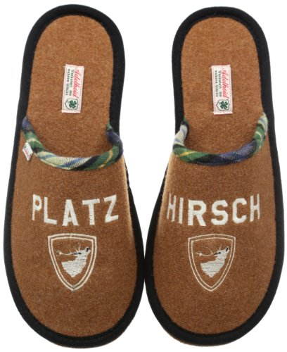 Adelheid Mens Platzhirsch Filzpantoffel Slippers Beige Beige (karamell 370) Size: 10.5 (44/45 EU)
