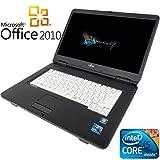 【Microsoft Office2010搭載】【Win 7搭載】富士通 A550/A/新世代Core i5 2.4GHz/メモリ4GB/HDD160GB/DVDドライブ/大画面15インチ/無線LAN搭載/中古ノートパソコン