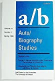img - for a/b Auto/Biography Studies Volume 10 Number 1 Spring 1995 (10) book / textbook / text book