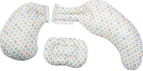 Boppy - Cuscino Total Body 3 in 1, colore silver leaf