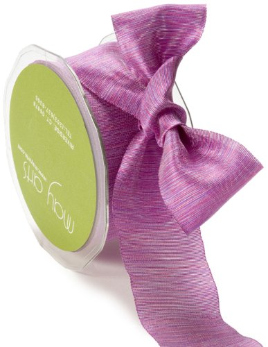 May Arts 5/8-Inch Wide Ribbon, Purple and Pink Two Tone