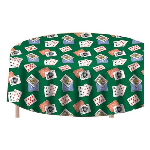 Winning Hand Flannel-backed 60in Vinyl Tablecover