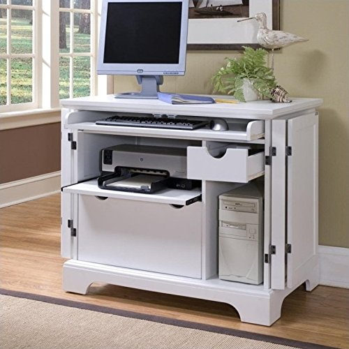 Home Styles 5530-19 Naples Compact Office Cabinet, White Finish (Computer Cabinets compare prices)