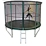Cortez Premier 10ft Trampoline with Enclosure and FREE LADDERby Cortez