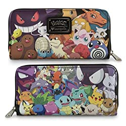 Pokemon Allover Original Characters Zippered Wallet
