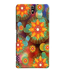 Omnam Comptuter Flower Pattern Printed Designer Back Cover Case For Sony Xperia C5
