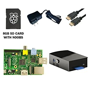 CanaKit Raspberry Pi Complete Starter Kit (Raspberry Pi + 8 GB Original Preloaded SD Card + Black Case + Power Supply + HDMI Cable)