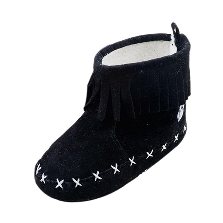 ROPALIA Kleinkind Quasten Booties alleinige Weichbaby Winter Warm Schuhe Krippe günstig online kaufen