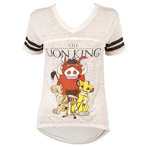 Freeze Official Womens Disney The Lion King V-Neck Burnout T Shirt Beige Large - UK 12 Beige Off-White (The Lion King Merchandise compare prices)