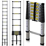 EN131 Std. 12.5Ft Aluminum Telescopic Tel escoping Ladder Extension Exte nd Loft