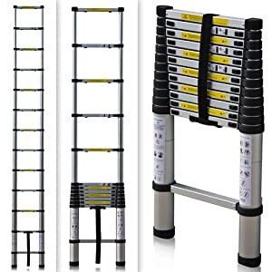 En131 Std 12 5ft Aluminum Telescopic Tel Escoping Ladder