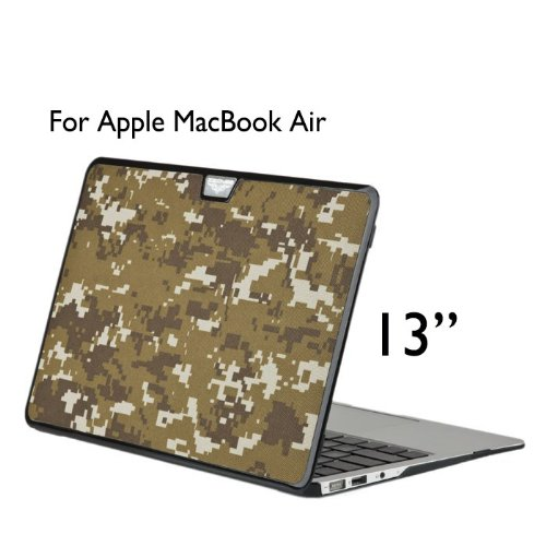 Best  Uelesy(R) AIR 13-inch Yellow 3 in 1 Camouflage Cloth Style Hard Cover Case For Apple MacBook Air 13 inch 13.3