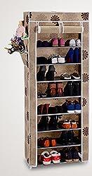 Evana Nine Layer Flower Print Shoe Rack/Shoe Shelf/Shoe Cabinet,Easy Installation Stand For Shoes-Multicolor
