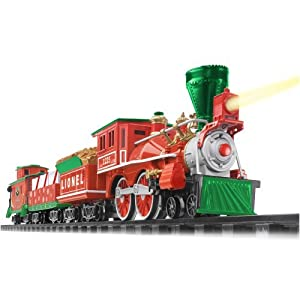Lionel Holiday Central G-Gauge, Battery Powered Ready to Run Train Set