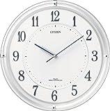 CITIZEN (シチズン) 電波ソーラー掛時計 すっきりとした白文字板のソーラー発電タイプ サイレントソーラーM817 4MY817-003 4MY817-003