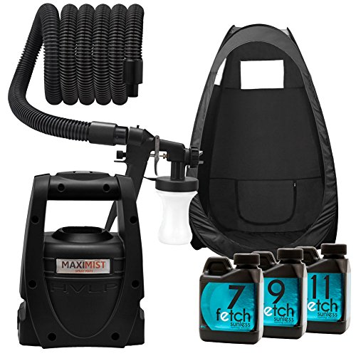 Maxi-Mist Mate Hvlp Machine Fetch Spray Sunless Tanning Dha Black Tent Kit 1A front-947816