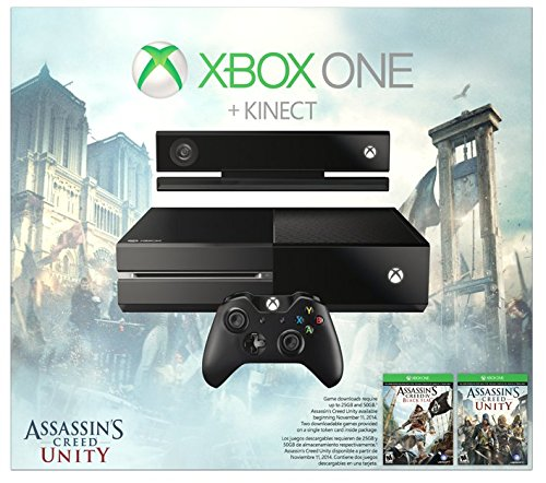 Xbox one with kinect assassin 39 s creed unity bundle 500gb for Decoration xbox one