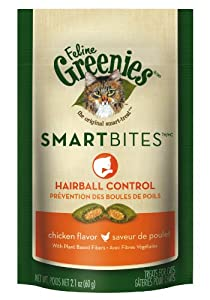 Greenies Smartbites Hairball Control Chicken Cat Treats, 2.1-Ounce