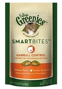 FELINE GREENIES SMARTBITES Hairball Control Treats for Cats Chicken Flavor - 2.1 oz.