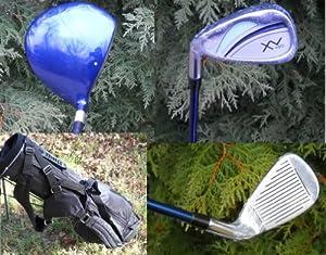 AGXGOLF Girls Left Hand XV Edition Golf Club Set w460cc Driver, Fairway Wood, Bag & Free Putter; Teen Length; Fast Shipping